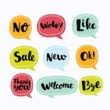 Les divers labels de vecteur dans CMYK aiment le style Logo Symbols utile Image libre de droits
