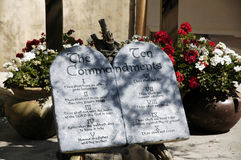 Les Dix commandements Images stock