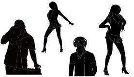 Les DJ et les chiffres du danseur Images stock