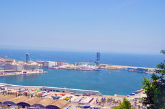 Les docks de Barcelone Images libres de droits