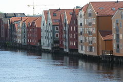 Les docks de Trondheim Images stock