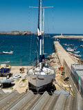 Les docks en Marin Sagres, Algarve portugal Images stock