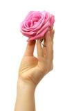 Les doigts avec se sont levés Photo libre de droits