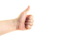 Les doigts de main approuvent le geste - correct Image libre de droits