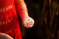 Les doigts de petite fille Image libre de droits