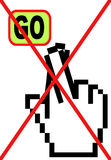 Les doigts ont croisé la garantie d'Internet Image libre de droits