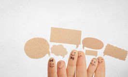 Les doigts sourient, avec un espace pour votre texte Image stock