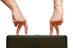 Les doigts vont se contacter Photographie stock libre de droits
