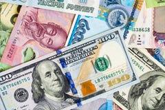 les dollars de fond nous ont isolés blancs Image libre de droits