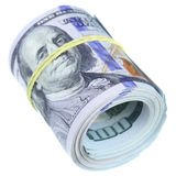 les dollars de fond nous ont isolés blancs Photo stock