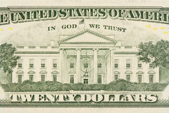 les dollars de fond nous ont isolés blancs Images libres de droits