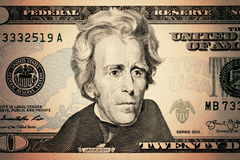 les dollars de fond nous ont isolés blancs Photographie stock libre de droits