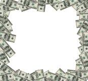 Les dollars encadrent AVEC LA CORRECTION de DÉCOUPAGE Image stock