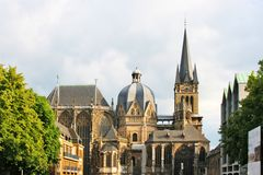 Les DOM d'Aachener Photo stock