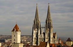 Les DOM de Regensburger Photographie stock libre de droits