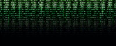 Les données binaires codent la technologie verte de Web de matrice illustration libre de droits