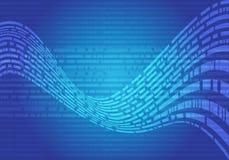 Les données bleues abstraites ondulent le vecteur futuriste moderne de fond de conception d'écran de technologie Images stock