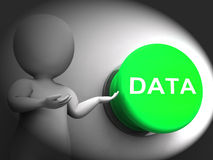 Les données ont pressé des dossiers et des archives de documents d'expositions Image libre de droits