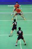 les doubles des hommes, championnats 2011 de l'Asie de badminton Photographie stock