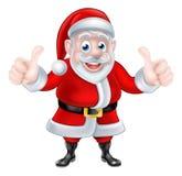 Les doubles pouces lèvent la bande dessinée Santa Photos libres de droits