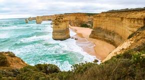 Les douze apôtres dans l'Australie Images libres de droits