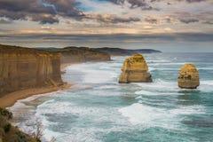 Les douze apôtres, grande route d'océan Images stock
