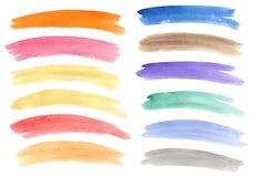 Les drapeaux d'aquarelle ont placé Image stock