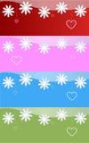 Les drapeaux de Valentine Images stock