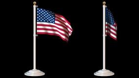 Les drapeaux du monde font une boucle le paquet 6 dans 1 avec le fond banque de vidéos