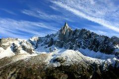 Les Drus Chamonix-Mont-Blanc Frankrike Arkivbilder