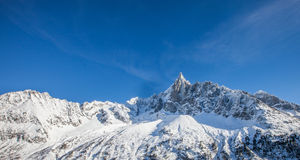 Les Drus Peak in the French Alps Stock Photos