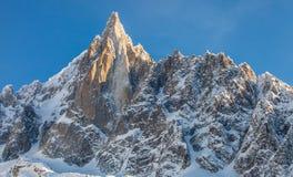 Les Drus som är maximal i de franska alpsna Royaltyfria Bilder