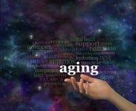 Les détails du vieillissement pendant votre année crépusculaire Photographie stock