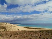 Les dunes blanches de Costa Calma sur Fuerteventura Photo libre de droits