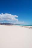Les dunes de sable dans Aomak échouent la zone protégée, île d'île de Socotra, Yémen, détendent, lune de miel, évasion Image libre de droits