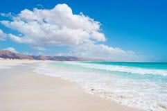 Les dunes de sable dans Aomak échouent la zone protégée, île d'île de Socotra, Yémen, détendent, lune de miel, évasion Photographie stock