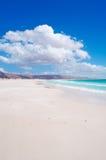 Les dunes de sable dans Aomak échouent la zone protégée, île d'île de Socotra, Yémen, détendent, lune de miel, évasion Photos libres de droits