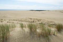 Les dunes de sable du Curonian crachent sur la mer baltique Image stock