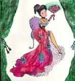 les dziewczyn natalie serii Ilustracji