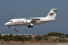 Les EAU RJ85 sur des finales Photographie stock