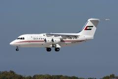 Les EAU RJ85 sur des finales Photographie stock libre de droits
