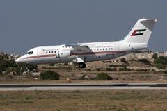 Les EAU RJ85 sur des finales Photo libre de droits