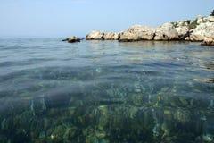 Les eaux bleues Images libres de droits