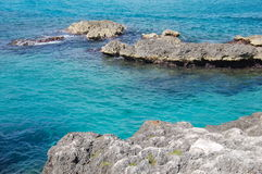 Les eaux bleues Image libre de droits