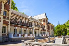 Les Eaux-Bonnes, halny zdroju kurort w Francuskich Pyrenees Zdjęcia Royalty Free