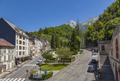 Les Eaux-Bonnes, a mountain spa resort in the French Pyrenees Stock Photos