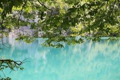 Les eaux d'été de Plitviçe Photographie stock libre de droits