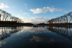 Les eaux dans le palais de Versailles, en hiver images libres de droits