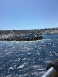 Les eaux dans Mykonos Photo stock