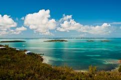 Les eaux de Bahama Images libres de droits